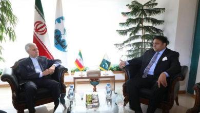 وزیرسائنس و ٹیکنالوجی فواد چودھری کی ایرانی ہم منصب سے ملاقات