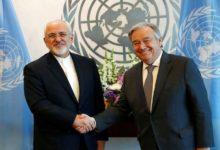 ایرانی وزیر خارجہ کی اقوام متحدہ کے سیکریٹری جنرل سے ملاقات