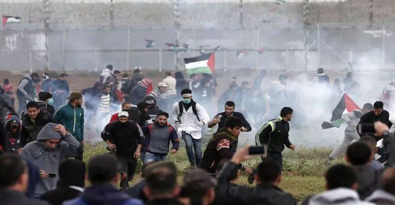 فلسطینی مظاہرین پر صیہونی فوج کی فائرنگ ، 55 فلسطینی زخمی