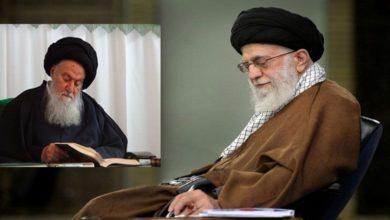 آیت اللہ خامنہ ای کا حسینی شاہرودی کے انتقال پر تعزیتی پیغام