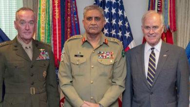 جنرل باجوہ کا پینٹاگون میں 21 توپوں کی سلامی سے استقبال