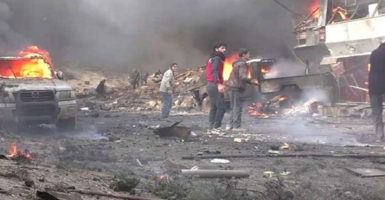 داعش کا شام میں کار بم دھماکہ، 13 افراد جاں بحق، 30 زخمی