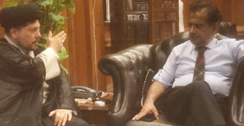 علامہ باقر عباس زیدی کی وفد کے ہمراہ کمشنر کراچی سے ملاقات