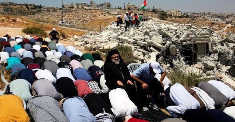 بیت المقدس کے مسلمانوں اور عیسائیوں کی یکجہتی کا مظاہرہ