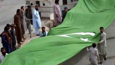 جشن آزادی پاکستان پر ایک کلومیٹر طویل سبز ہلالی پرچم تیار