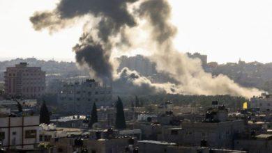 اسرائیلی حکومت کے جنگی طیاروں کی بمباری، 5 فلسطینی شہید
