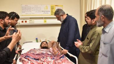 علامہ راجہ ناصر جعفری کی بابوسر حادثے میں زخمیوں کی عیادت