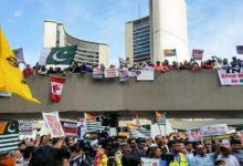 ٹورنٹو میں کشمیریوں کی حمایت میں احتجاجی مظاہرہ