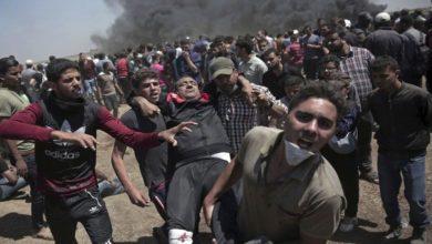اسرائیلی جارحیت، حق واپسی ریلی پر فائرنگ سے 55 فلسطینی زخمی