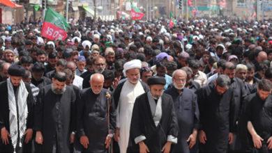 کراچی، آئی ایس او کی جانب سے مرکزی جلوس میں نماز کا اہتمام