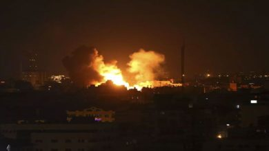 صیہونی جنگی طیاروں اور توپ خانوں کی غزہ پر بمباری