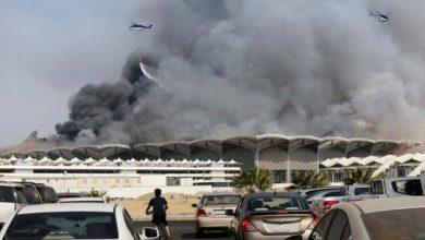 سعودی عرب کے جدہ ریلوے اسٹیشن پر خوفناک آتش زدگی