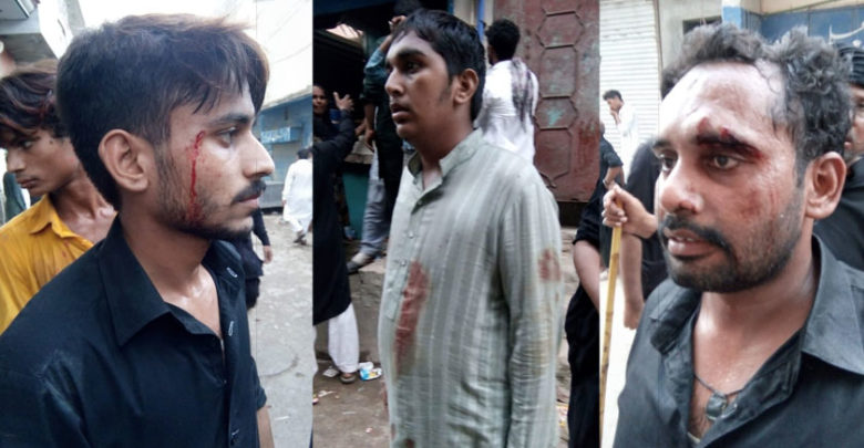 لاہور،چوہنگ کے علاقے میں جلوس پر حملہ، متعدد مومنین زخمی