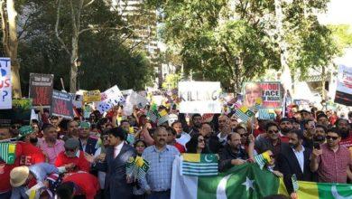 اقوام متحدہ کے سامنے بھارتی وزیراعظم مودی کیخلاف سخت احتجاج