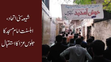 شیعہ سنی اتحاد، اہلسنت امام مسجد کا جلوس عزاء کا استقبال