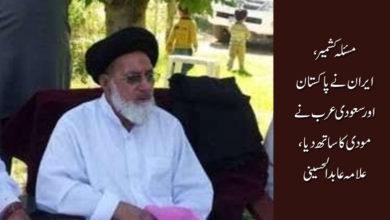 مسئلہ کشمیر، ایران نے پاکستان اور سعودی عرب نے مودی کا ساتھ دیا