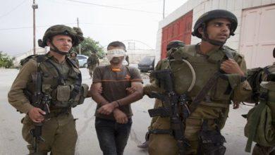 اسرائیلی فوج کے ہاتھوں مغربی کنارے سے 18 فلسطینی زیر حراست