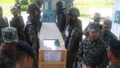 پاکستان نے ڈوب کر مرنے والے فوجی کی لاش بھارت کے حوالے کردی