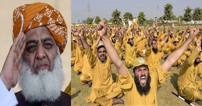 مولانا فضل الرحمٰن کی ڈنڈہ بردار فورس انصارالاسلام کالعدم قرار