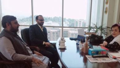 ایم ڈبلیوایم کے وفد کی وزیر انسانی حقوق شیریں مزاری سے ملاقات