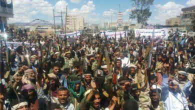 یمن کے صوبے صعدہ میں ہزاروں شہریوں کی ایک بڑی ریلی