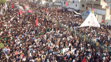 کراچی، چہلم امام حسینؑ کے مرکزی جلوس میں لاکھوں عزاداروں کی شرکت