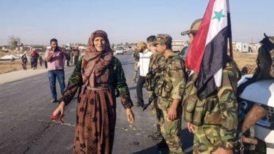 شامی فوج کا شمال مشرقی کرد علاقوں میں شاندار استقبال