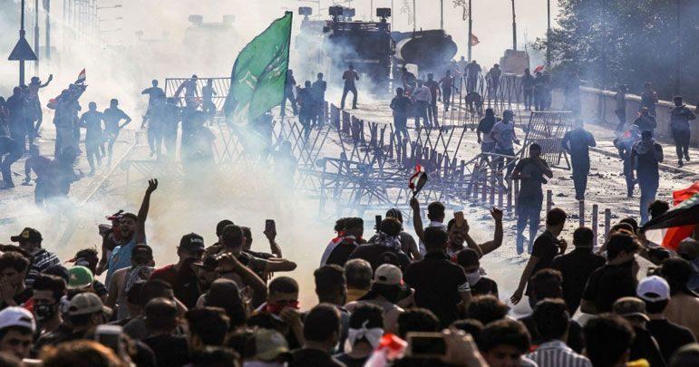 عراق کو حالیہ مظاہروں میں چھے ارب ڈالر کا مالی نقصان ہوا