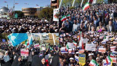 ملک بھر میں ایرانی عوام شرپسند عناصر کے خلاف سراپا احتجاج