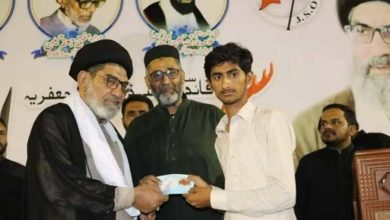 علامہ ساجد نقوی کی جانب سےکامیاب طلبا میں انعامات کی تقسیم