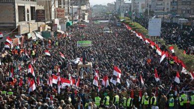یمن کے صوبہ حجہ میں سعودی جارحیت کے خلاف مظاہرے