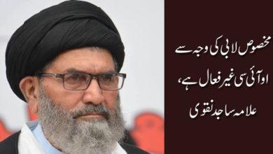 مخصوص لابی کی وجہ سے او آئی سی غیر فعال ہے، علامہ ساجد نقوی