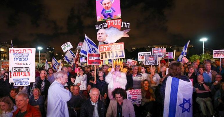 تل ابیب میں وزیراعظم نیتن یاہو کے استعفیٰ کیلئے احتجاجی ریلی