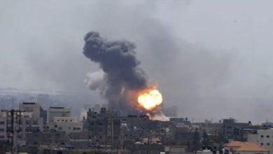 فلسطینی میزائل حملوں کے جواب میں اسرائیلی فوج کی غزہ پر بمباری