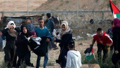 غزہ میں حق واپسی مارچ پر صیہونی فوجیوں کا حملہ، 5 فلسطینی زخمی