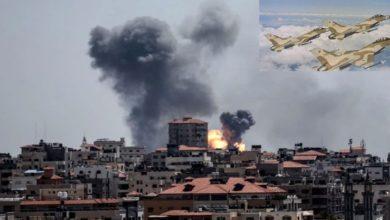 اسرائیلی جارحیت، غزہ پر صیہونی جنگی طیاروں کی بمباری