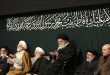 رہبر معظم کی موجودگی میں حضرت فاطمہؑ کی شہادت کی مناسبت سے مجلس