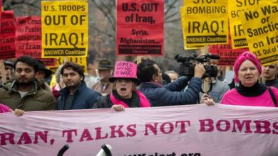امریکی جنگی اقدامات کے خلاف امریکہ اور کینیڈا میں مظاہرے