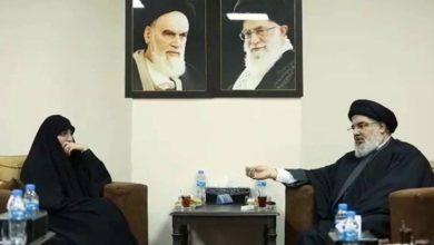 حزب الله کے سربراہ حسن نصراللہ سے زینب سلیمانی کی ملاقات
