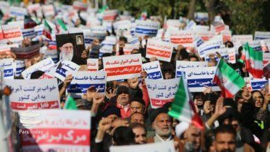 سپاہ پاسداران اور جمہوری نظام کی حمایت میں ایرانی عوام کی ریلیاں
