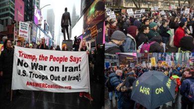 ایران مخالف پالیسیوں کے خلاف امریکہ اور کینیڈا میں مظاہرے