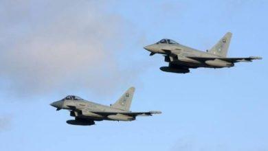 یمن کے نہم علاقے پر سعودی اتحاد کے جنگی طیاروں کی بمباری