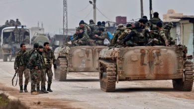 شامی فوج کے دستے صوبہ ادلب میں واقع سراقب شہر میں داخل