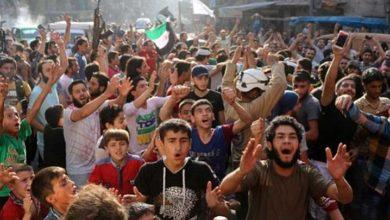 شام، دہشتگردوں سے حلب کی آزادی پر عوام کا جشن