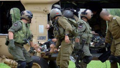 شمالی فلسطین میں جنگی مشقوں کے دوران چار اسرائیلی فوجی زخمی