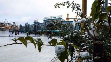 عراق میں کربلا سمیت مختلف شہروں میں کئی عشروں کے بعد برفباری