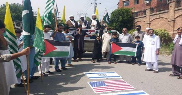 پشاور، مجلس وحدت اور جامعہ الشہید عارف حسینی کی مشترکہ القدس ریلی