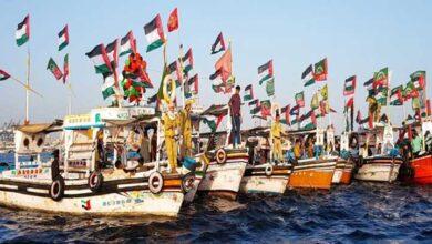 کراچی میں القدس تشھیری مہم، آئی ایس او کی جانب سے کشتی ریلی کا انعقاد