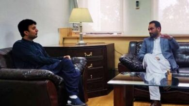 ایم ڈبلیوایم رہنما،وزیر زراعت جی بی کاظم میثم کی وفاقی وزیر مواصلات مراد سعید سے ملاقات
