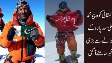 پاکستانی کوہ پیما محمد علی سدپارہ کے حوالے سے بڑی خبر سامنے آگئی